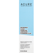 ACURE Cleansing Clay, Incredibly Clear, Charcoal, Volcanic Lava & Lemon