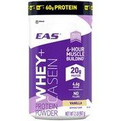EAS Whey + Casein Vanilla EAS Whey + Casein Protein Powder Vanilla Powder Canister