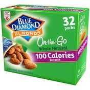 Blue Diamond On-The-Go Almonds, Whole Natural