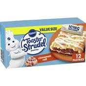 Pillsbury Toaster Strudel, Cinnamon Roll, Frozen Pastries, 12 Count