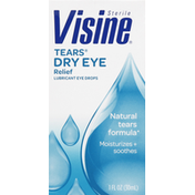 Visine Eye Drops, Lubricant, Dry Eye Relief
