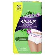 Always Discreet Incontinence Underwear, Maximum