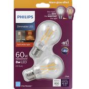 Philips Light Bulbs, LED, Soft White, 8 Watts