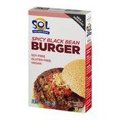 Sol Cuisine Spicy Black Bean Burgers With Organic Sweet Corn
