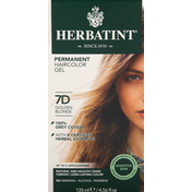 Herbatint Haircolor Gel, Permanent, Golden Blonde 7D