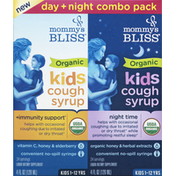 Mommy's Bliss Cough Syrup, Kids, Organic, Day + Night Combo Pack, Kids 1-12 YRS