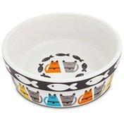 "Harmony Tough Guys Ceramic Cat Bowl 1.75"" H X 5"" Diameter"