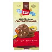 Man Stars Cookies Chocolate