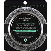 Cleanlogic Body Scrubber, Dual Texture, Purifying Charcoal, Detox