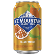 Ice mountain Sparkling Water, Orange Mango