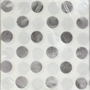 Unique Napkins, Silver Dots, 2 Ply
