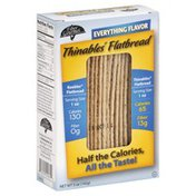 Fiber Gourmet Thinables, Flatbread, Everything Flavor
