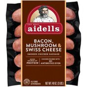 Aidells Smoked Chicken Sausage, Portobello & Swiss Cheese, 3 lb. (15 Fully Cook