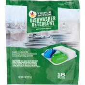 Ahold Dishwasher Detergent, Triple Action, 18 Packs