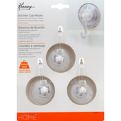 Kenney Suction Cup Hooks, White