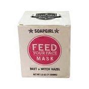 Soapgirl Feed Face Mask, Beet + Witch Hazel