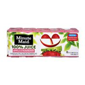 Minute Maid Apple Strawberry 100% Juice - 10 PK