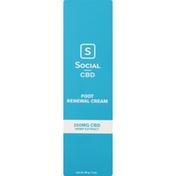 Social CBD Foot Renewal Cream, 250 mg CBD Hemp Extract