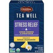 Celestial Seasonings Tea Well Stress Relief Organic Lemon Chamomile Herbal Supplement Tea Bags