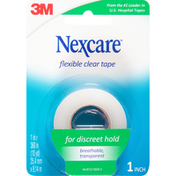 Nexcare Clear Tape, Flexible, 1 Inch