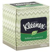 Kleenex Tissues, Lotion Aloe & E, White, 3-Ply