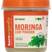 Bare Organics Moringa Leaf Powder, Organic, Raw, Antioxidant Super Green