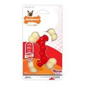 Nylabone Dura Chew Petite Bacon Double Bone Dog Chew Toy