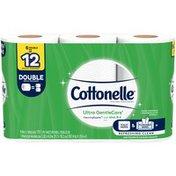 Cottonelle Ultra GentleCare Double Roll Toilet Paper Bath Tissue