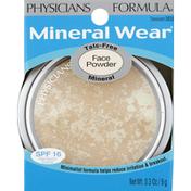 Physicians Formula Face Powder, Talc-Free Mineral, Translucent 3835, SPF 16