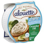 Alouette Spreadable Cheese, Soft, Light, Cucumber Dill