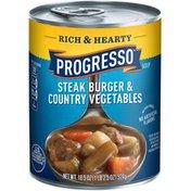 Progresso Rich & Hearty Steak Burger & Country Vegetables Soup
