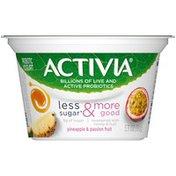 Activia Less Sugar & More Good Pineapple & Passion Fruit Yogurt