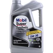 Mobil Motor Oil, Full Synthetic, 5W-30