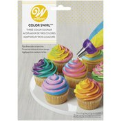 Wilton Color Swirl 3-Color Coupler Cupcake Decorating Set