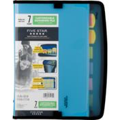Five Star 7 Pocket Customizable Expanding File Zipper Closure