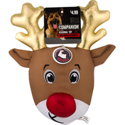 Companion Dog Toy, Seasonal, Red-Nosed Reindeer
