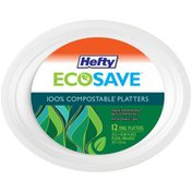 Hefty 100% Compostable 12.5 x 10 in. Oval Platters