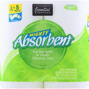 Essential Everyday Paper Towels, Multi-Size, Huge Rolls, Two-Ply