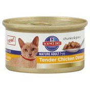 Hill's Science Diet Cat Food, Premium, Mature Adult, Tender Chicken Dinner