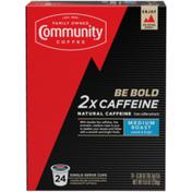 Community Coffee 2x Caffeine Coffee Pods for Keurig K-cups
