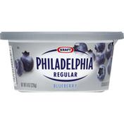 Philadelphia Cream Cheese Spread, Regular, Blueberry
