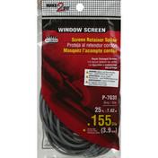 Make 2 Fit Screen Retainer Spline, Window Screen, Black