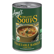 Amy's Kitchen Organic Vegetable Barley Soup, Low Fat