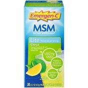 Emergen-C MSM Lite Citrus Dietary Supplement