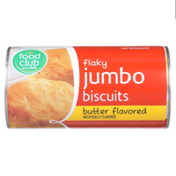 Food Club Butter Flavored Flaky Jumbo Biscuits