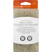Full Circle Coconut Scour Pads, Heavy-Duty