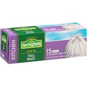 Springfield Kitchen Tall Flap Tie White Bags