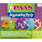 PAAS Deggorating Party Egg Decorating Kit - 9 PK