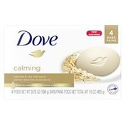 Dove Beauty Bar Calming Oatmeal And Rice Milk Scent
