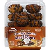 Manischewitz Macaroons, Gourmet, Coconut, Chocolate Drizzled